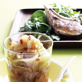 Pork Chops with Pear Chutney