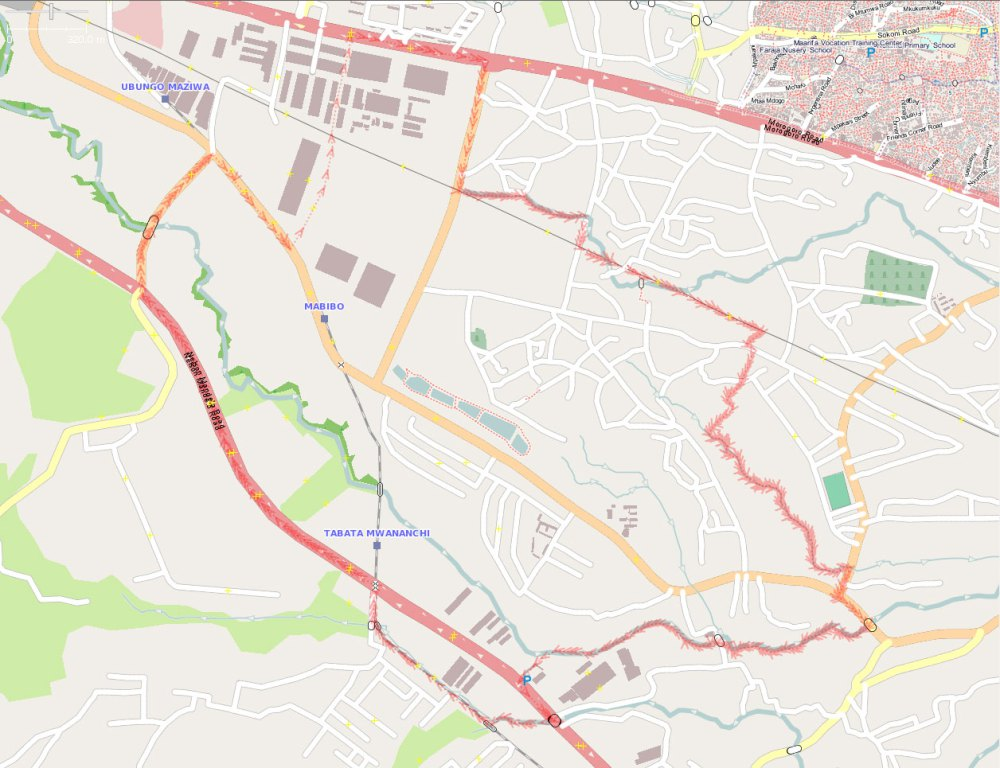 Mabibo ward before mapping IMAGE SOURCE OpenStreetMap