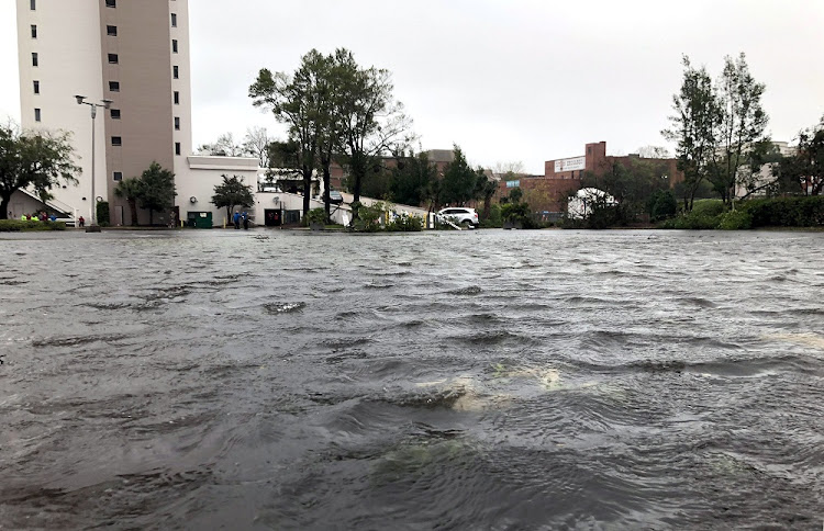 Flooded streets are pictured as Hurricane Florence moves into the Carolinas in Wilmington, North Carolina, US, on September 14 2018. Picture: REUTERS/ROSELLE CHEN