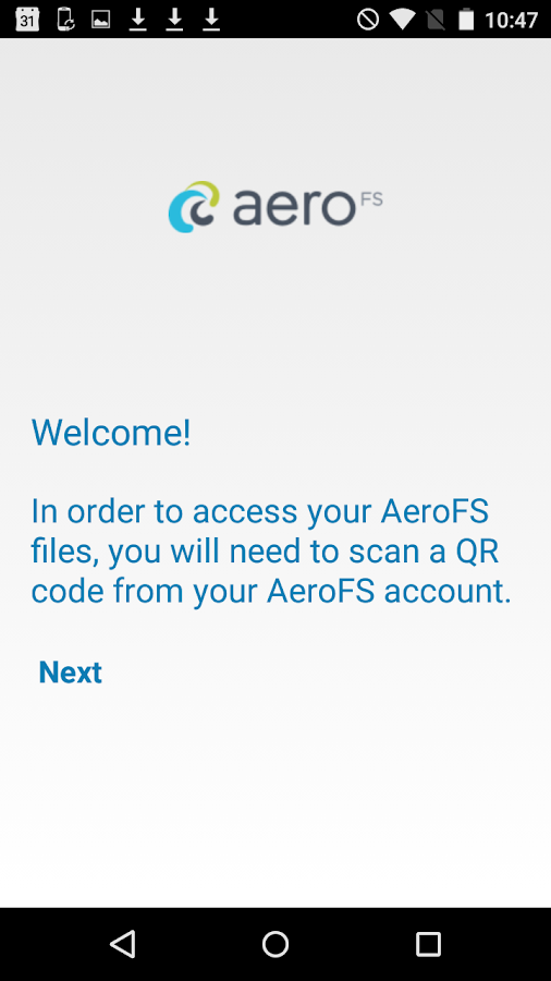 AeroFS- screenshot
