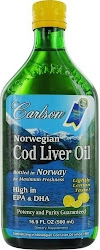 Carlson Norwegian Cod Liver Oil - Lemon, 500ml