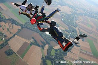 Photo: Ouverture du parachute , saut Pac