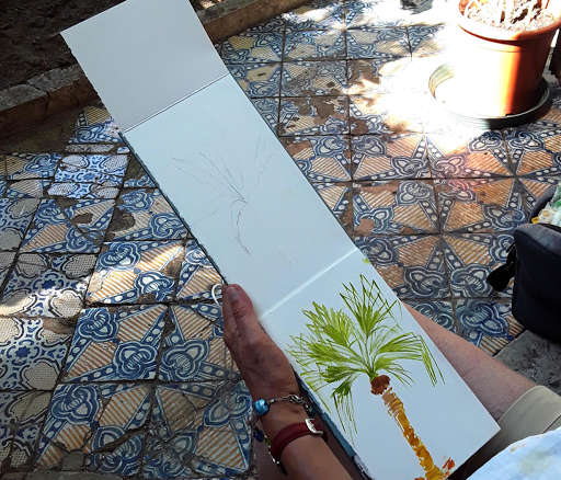 stage carnet de voyage aquarelle _ Jeanne PAPA_naples sicile rome italie