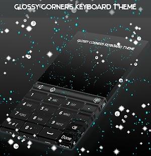 Glossy Corners Keyboard Theme - náhled