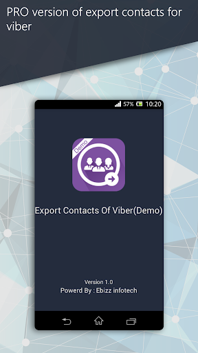 Export Contacts Of Viber Demo