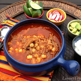 Pozole Rojo {Pork & Hominy Stew} Recipe