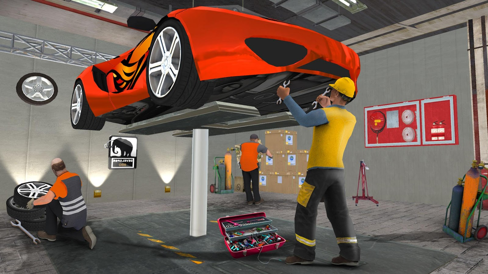 Monster Car Mechanic Workshop- screenshot