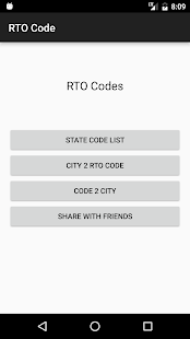 Indian RTO Codes- screenshot thumbnail
