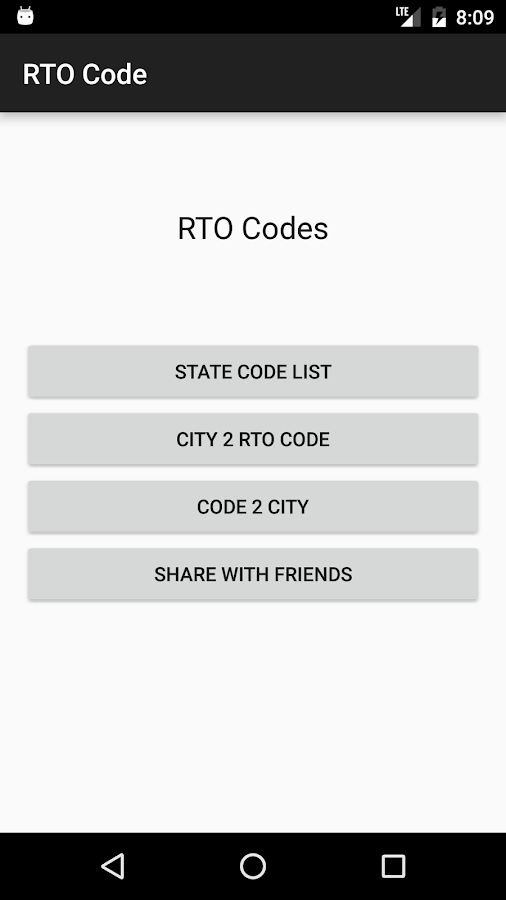Indian RTO Codes- screenshot