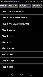 Dart Rangliste screenshot 5