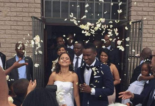 Duduzane Zuma and bride Shanice.
