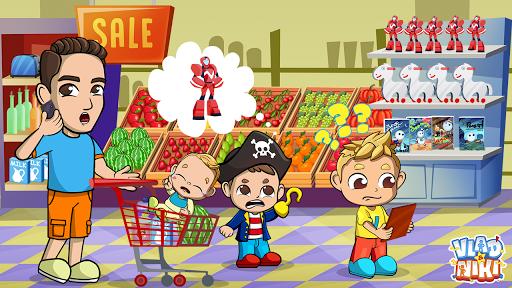 Vlad & Niki Supermarket game for Kids screenshots 1