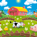Learning & Coloring - farm animals icon