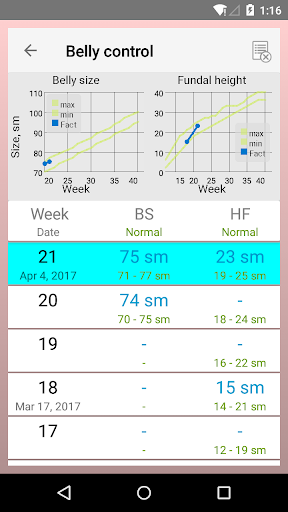 Pregnancy Calendar 2.5.1 screenshots 7
