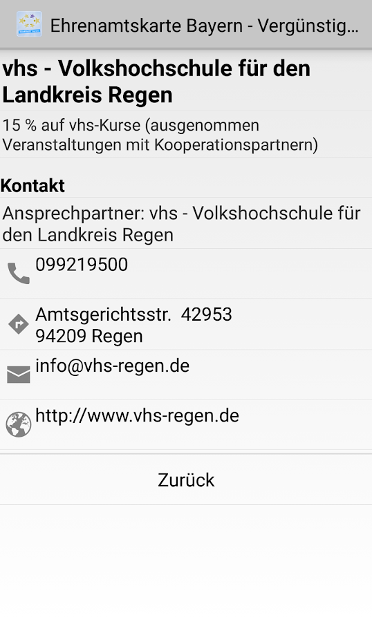 Ehrenamtskarte Bayern- screenshot