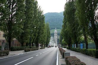 Photo: Widoczna bazylika w Tirano.
