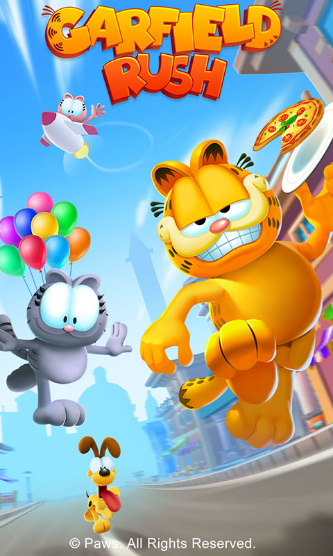 Screenshot 1 Garfield Rush 2.1.7 APK MOD
