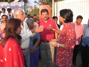 Photo: Priya Dutt & Baba Siddiqu inaugurating concretising of B J Road