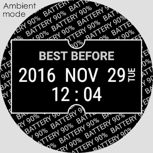 Best Before - Watch face - náhled