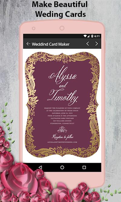 Stylish Wedding Invitation Card Maker 2018 Apk Download