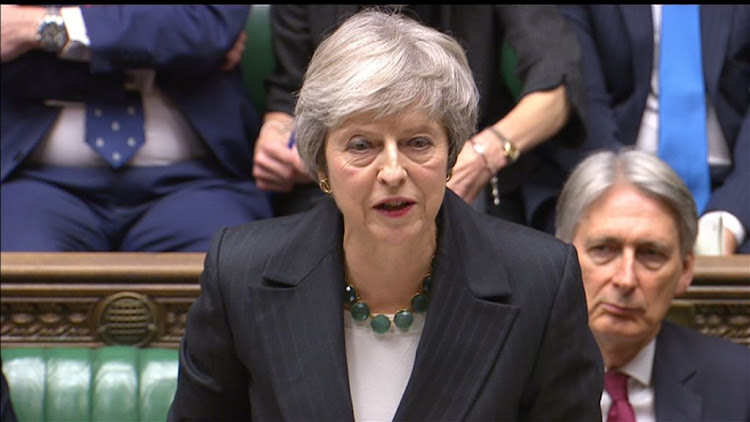 Britain's Prime Minister Theresa May speaks about Brexit in the House of Commons, central London, on November 15 2018.