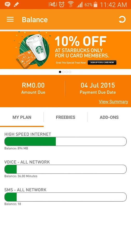 MyUMobile- screenshot