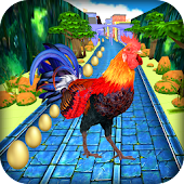Angry Rooster Run - Animal Escape Subway Run