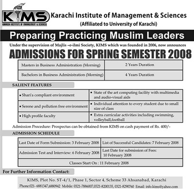 KIMS MBA/BBA : The Sharia'h Compliant Way