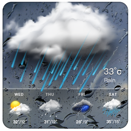Real-time weather forecasts for Android
