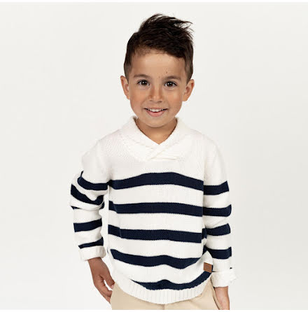 Navarro - Striped knitted sweater for children