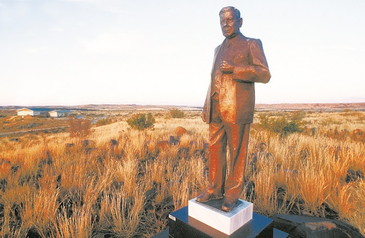 A statue of Hendrik Verwoerd, the architect of apartheid. Picture: SUPPLIED