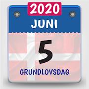 kalender dansk 2020, kalender med helligdage
