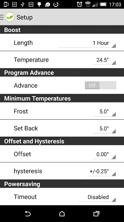 Home Automation Remote Heating- screenshot