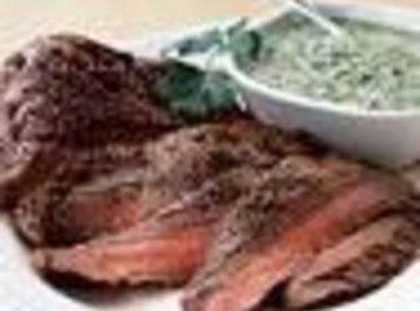 Steak With Blue Cheese Dressing Recipe