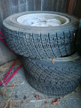 Photo: 3 wheels and tires, 4th spare wheel is in the trunk of the car