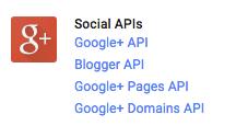 social APIs link