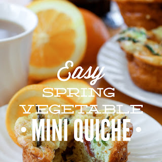 Easy Spring Vegetable Mini Quiche.