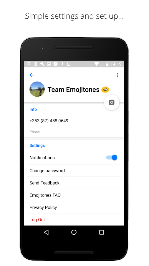 Emojitones Messenger- screenshot