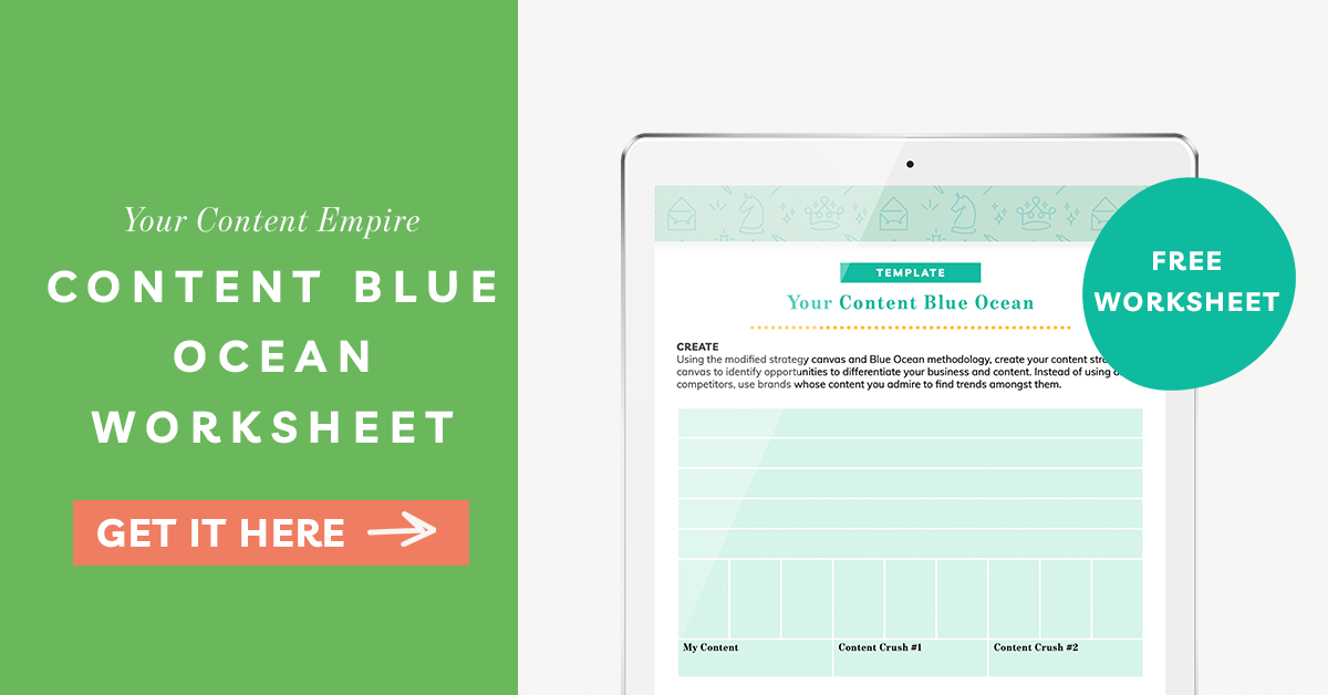 Freebie | Content Blue Ocean Worksheet