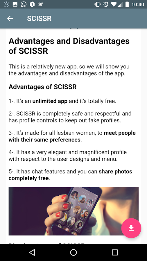 free lesbian dating apps