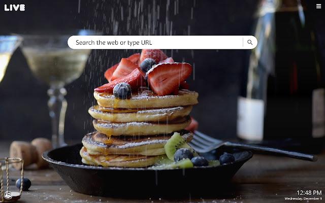 Food HD Live Wallpapers New Tab Theme