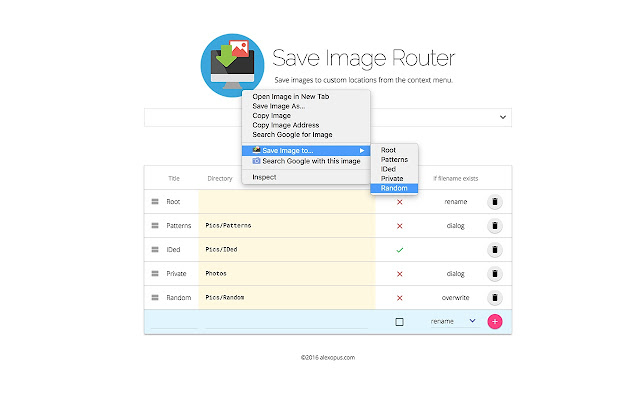Save Image Router