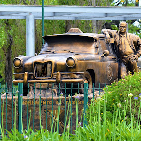 Monument to Taxi Drivers, Buenos Aires, Argentina by Sheri Fresonke Harper - City,  Street & Park  City Parks ( argentina, statue, taxi driver, monument, buenos aires,  )