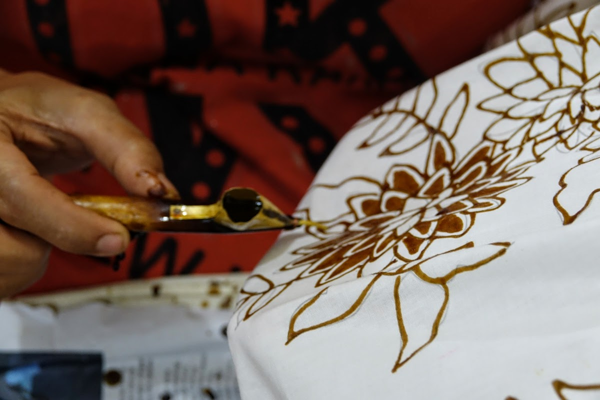 Indonesia. Crafts . Batik Freehand Drawing