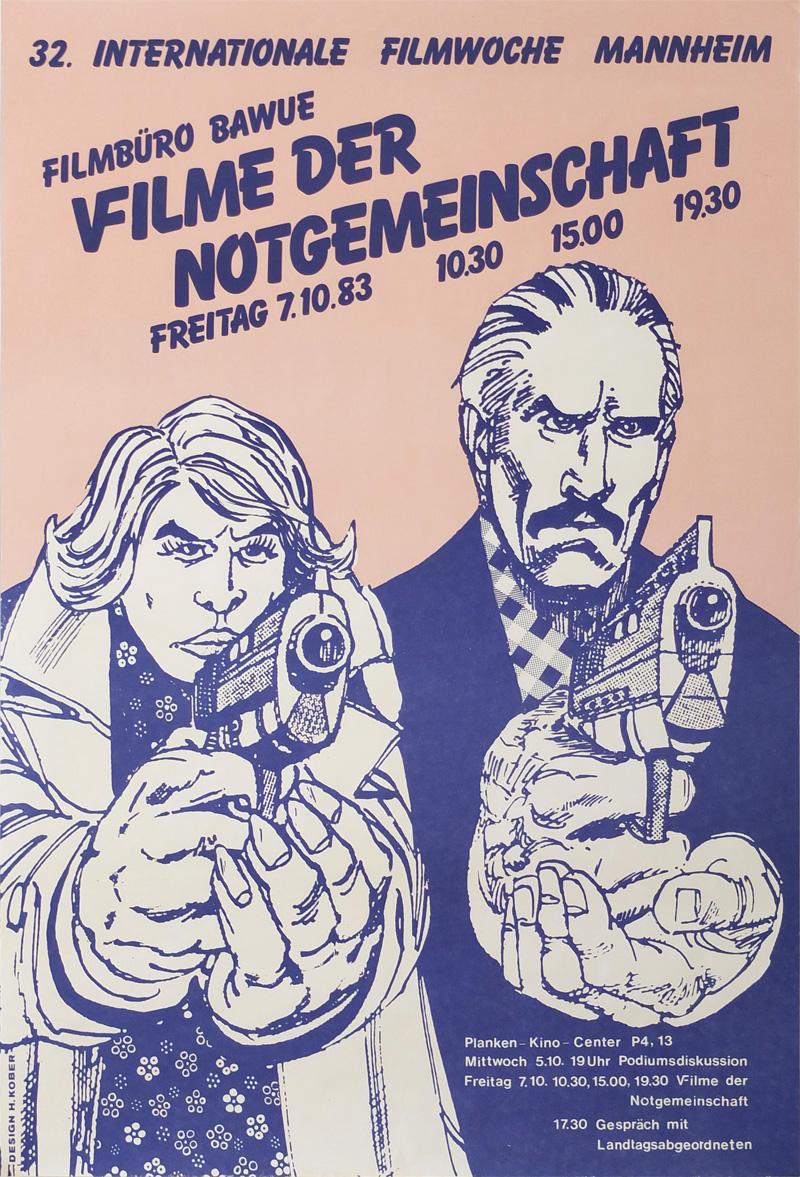 Photo: Plakat Filmschau Baden-Württemberg  DIN-A2, 59,5 x 40,5 cm © Hannelore Kober, 1983