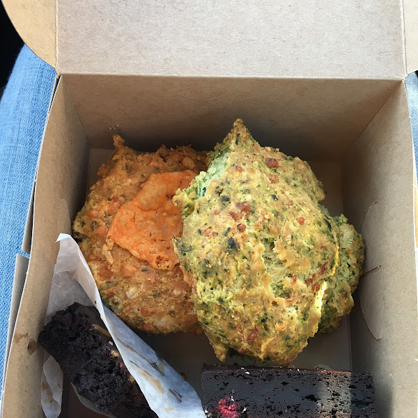 Cheese scone and spinach scone ...both were as good, if not more delicious than any regular scone I have ever had