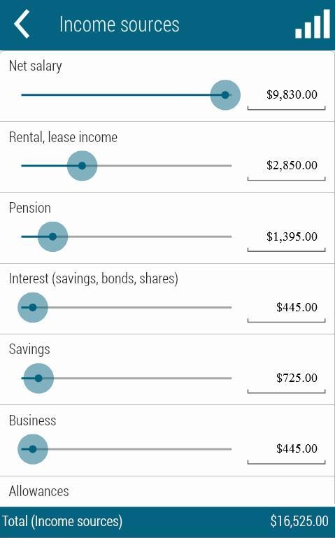 Home Budget Calculator- screenshot