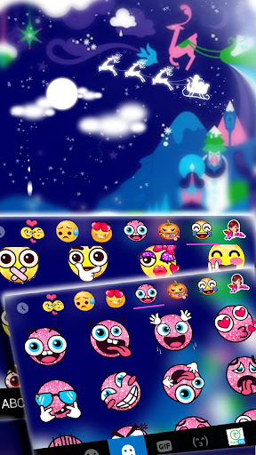 art drawing night keyboard theme screenshot 3