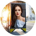Hoarding photo frames maker icon