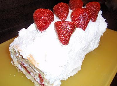 Strawberry Almond Cream Torte Recipe